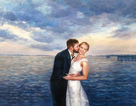 Personalized Oil Painting From Photos, handcraft art on Canvas-Show Case KBG101629-12