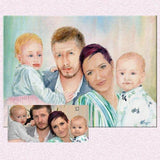 Personalized Oil Painting From Photos, handcraft art on Canvas-Show Case QJE102398-12