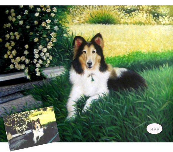 Personalized Oil Painting From Photos, handcraft art on Canvas-Show Case DGF102269-30