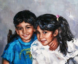 Personalized Oil Painting From Photos, handcraft art on Canvas-Show Case QTS101765-24