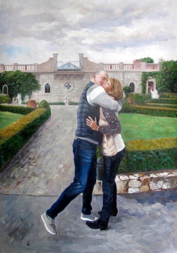 Personalized Oil Painting From Photos, handcraft art on Canvas-Show Case AOO101766-20