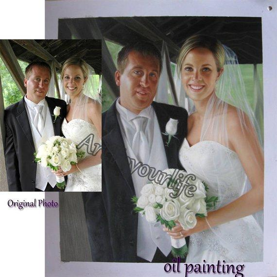 Personalized Oil Painting From Photos, handcraft art on Canvas-Show Case JAF101628-48