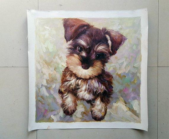 Personalized Oil Painting From Photos, handcraft art on Canvas-Show Case DFO101853-24