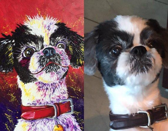 Personalized Oil Painting From Photos, handcraft art on Canvas-Show Case QGH101952-48