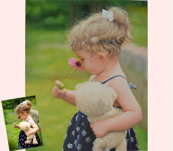 Personalized Oil Painting From Photos, handcraft art on Canvas-Show Case DDC101381-20