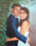 Personalized Oil Painting From Photos, handcraft art on Canvas-Show Case MLI102580-30
