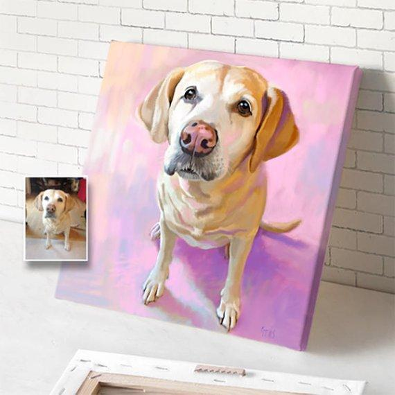 Personalized Oil Painting From Photos, handcraft art on Canvas-Show Case KRA101104-48