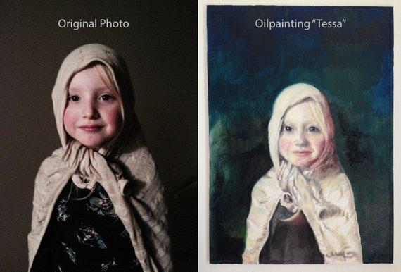 Personalized Oil Painting From Photos, handcraft art on Canvas-Show Case RHC102067-30
