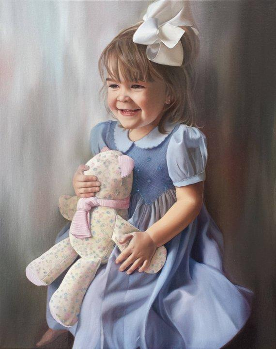 Personalized Oil Painting From Photos, handcraft art on Canvas-Show Case JEL101292-24