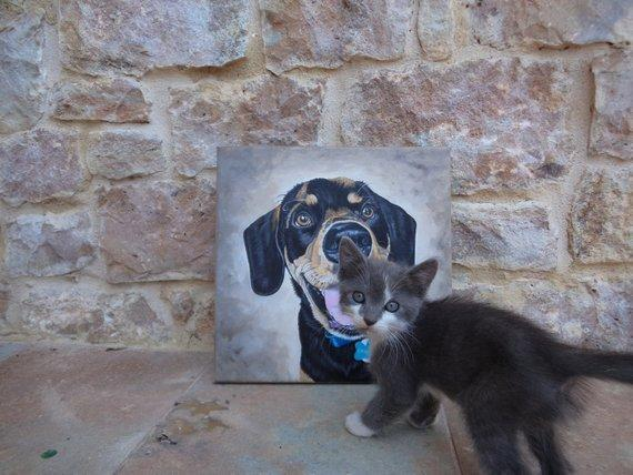 Personalized Oil Painting From Photos, handcraft art on Canvas-Show Case MGO101694-36