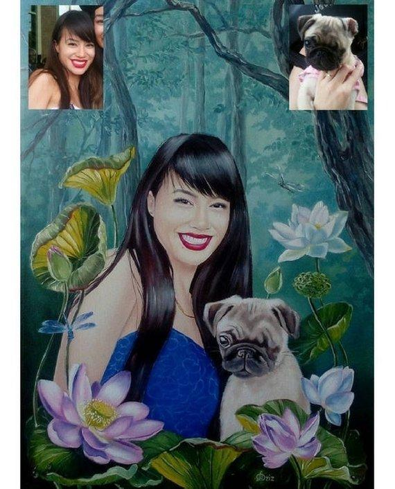 Personalized Oil Painting From Photos, handcraft art on Canvas-Show Case LRE101483-20