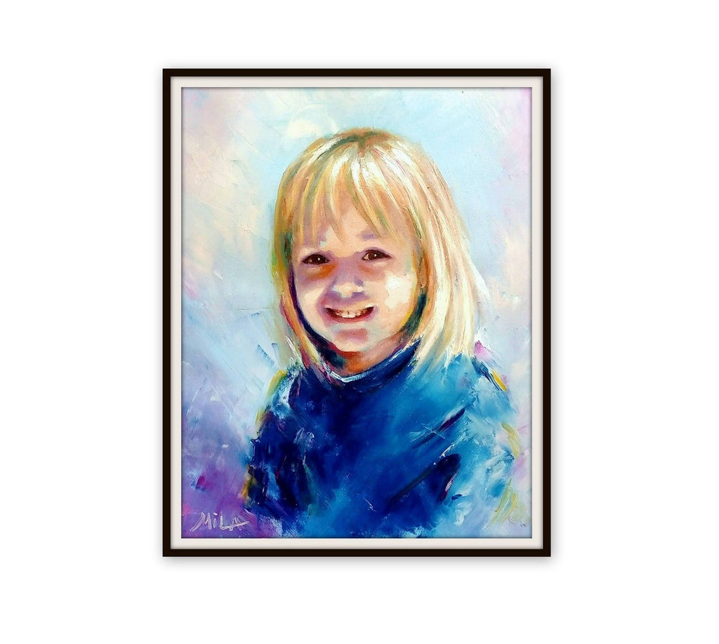Personalized Oil Painting From Photos, handcraft art on Canvas-Show Case KAJ102022-20