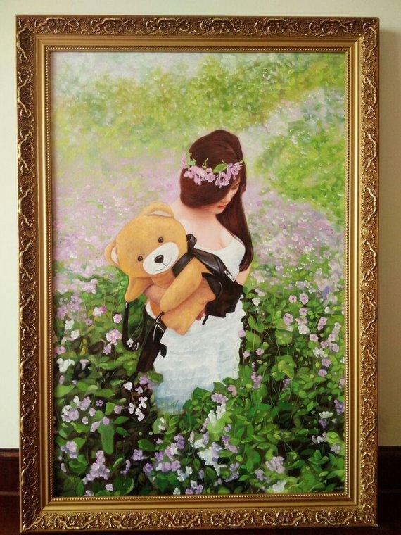 Personalized Oil Painting From Photos, handcraft art on Canvas-Show Case GSO101604-20