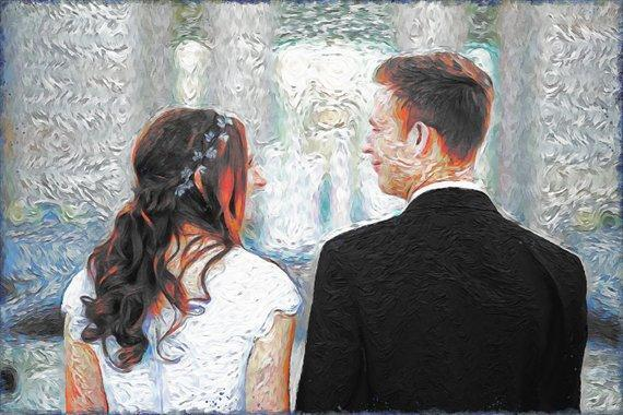 Personalized Oil Painting From Photos, handcraft art on Canvas-Show Case NAD101965-48