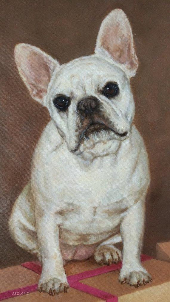 F&S Gift Store CUSTOM portrait Painting from Photo, Turn photo into oil painting, Custom Pets Portrait, 100% Handmade, Wedding portrait, Dog portrait