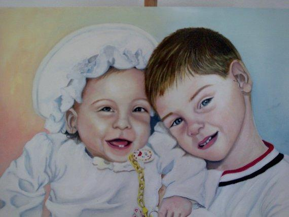 Personalized Oil Painting From Photos, handcraft art on Canvas-Show Case TNK101741-36