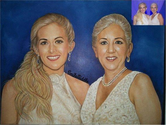 Personalized Oil Painting From Photos, handcraft art on Canvas-Show Case KJG101369-36
