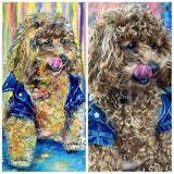 Personalized Oil Painting From Photos, handcraft art on Canvas-Show Case KPM102388-20