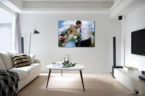 Personalized Oil Painting From Photos, handcraft art on Canvas-Show Case SSR102602-24