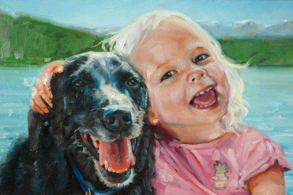 Personalized Oil Painting From Photos, handcraft art on Canvas-Show Case ADO101871-48