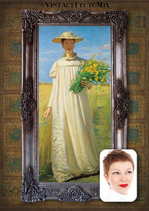 Personalized Oil Painting From Photos, handcraft art on Canvas-Show Case DEF102627-24