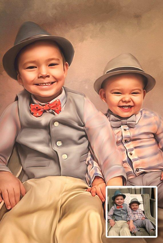 Personalized Oil Painting From Photos, handcraft art on Canvas-Show Case PMJ100882-20
