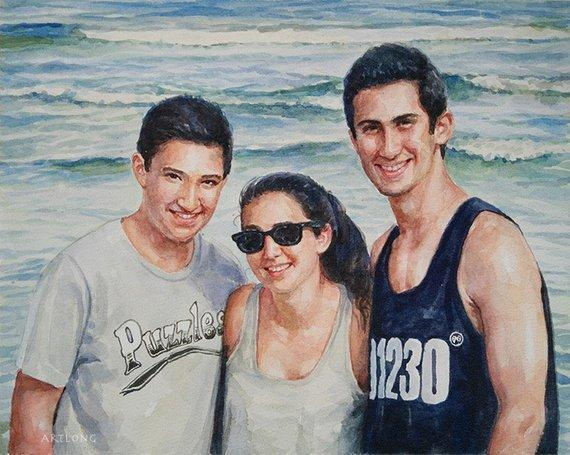 Personalized Oil Painting From Photos, handcraft art on Canvas-Show Case ALO101619-36
