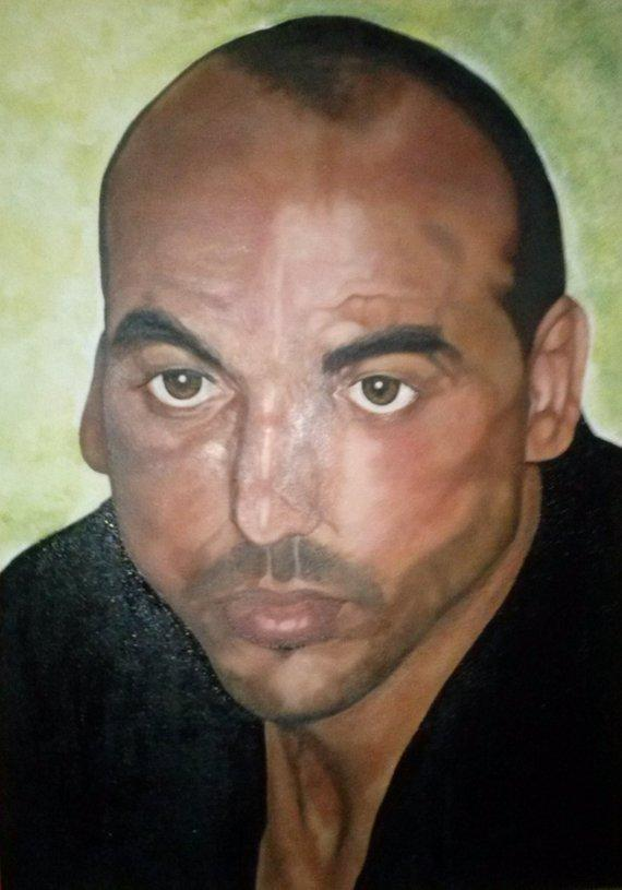F&S Gift Store Portrait on commission from photo 50 x 70 cm, oil on canvas with frame (oil on canvas whit frame)
