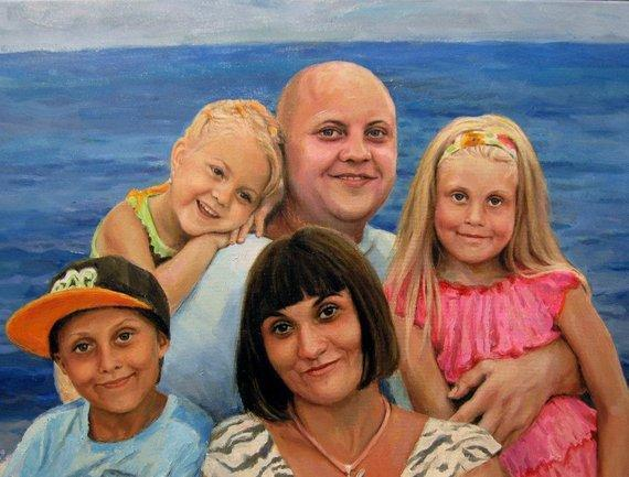 Personalized Oil Painting From Photos, handcraft art on Canvas-Show Case NDM102025-24