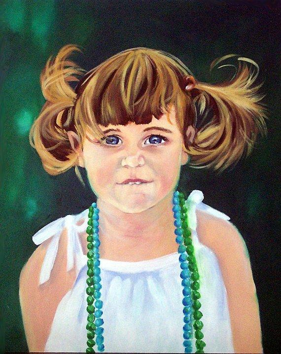 Personalized Oil Painting From Photos, handcraft art on Canvas-Show Case RCL102355-24