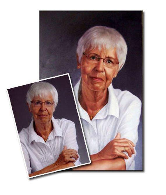 Personalized Oil Painting From Photos, handcraft art on Canvas-Show Case OGB102066-24
