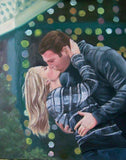 F&S Gift Store Custom portrait painting in oil , wedding portrait , engagement portrait , made to order , oil painting from photos