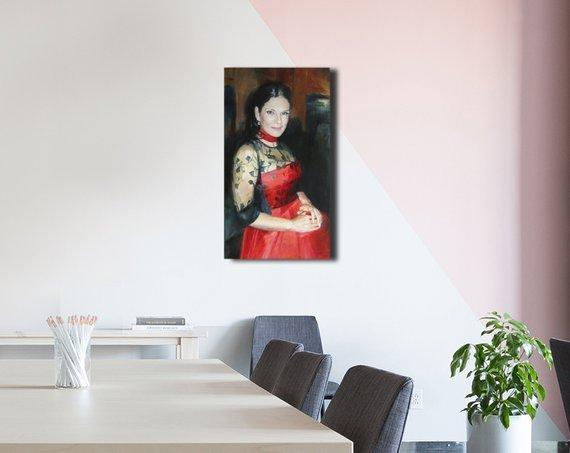Personalized Oil Painting From Photos, handcraft art on Canvas-Show Case DRI102056-48