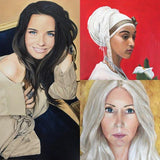 F&S Gift Store Custom portrait from photo Arab Girl oil painting from photo oil portrait family portrait Christmas gift for her grandparent gifts for mom