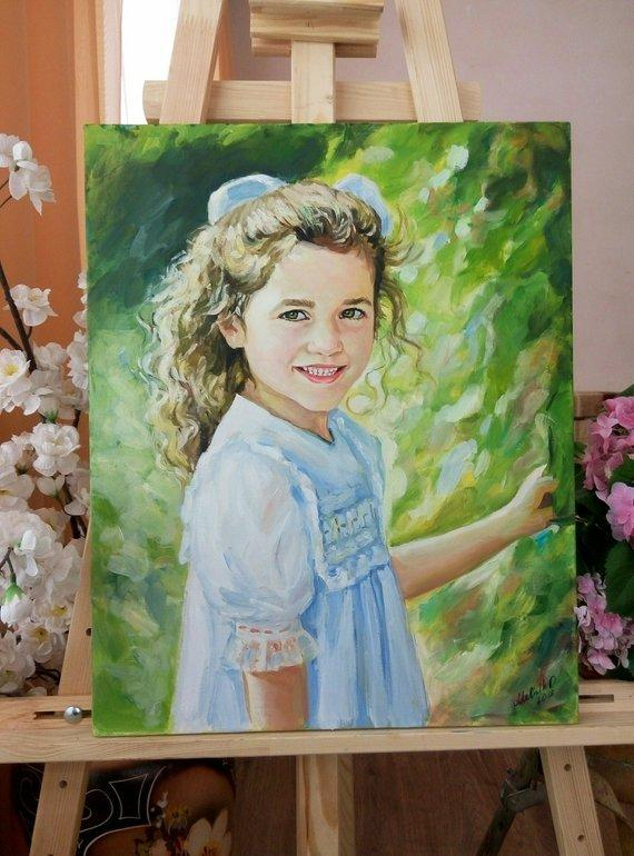 Personalized Oil Painting From Photos, handcraft art on Canvas-Show Case OJC102050-20