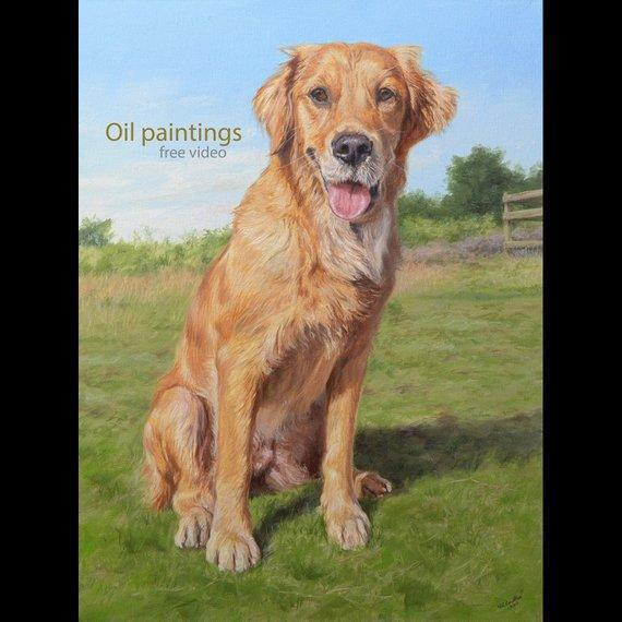 Personalized Oil Painting From Photos, handcraft art on Canvas-Show Case HDA101731-24