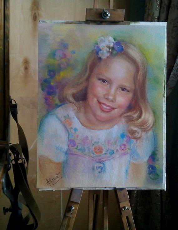 Personalized Oil Painting From Photos, handcraft art on Canvas-Show Case ABO101019-24