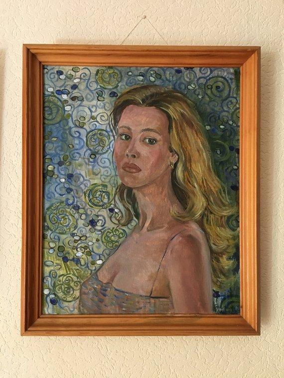 Personalized Oil Painting From Photos, handcraft art on Canvas-Show Case AJI101577-20