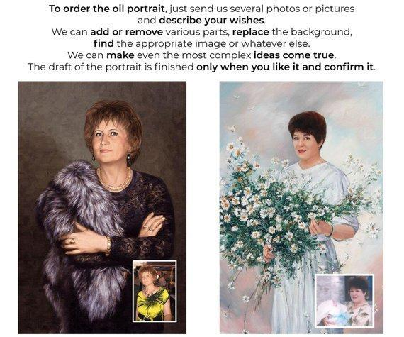 Personalized Oil Painting From Photos, handcraft art on Canvas-Show Case BRA101266-48