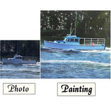 Personalized Oil Painting From Photos, handcraft art on Canvas-Show Case NMD100994-12