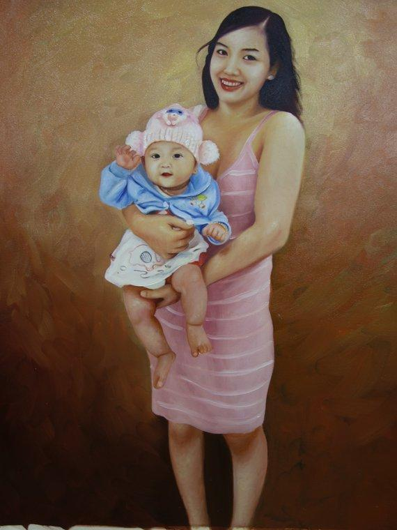 Personalized Oil Painting From Photos, handcraft art on Canvas-Show Case LAH102003-72