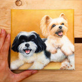 Personalized Oil Painting From Photos, handcraft art on Canvas-Show Case RAF101108-12