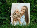 Personalized Oil Painting From Photos, handcraft art on Canvas-Show Case LKN101798-12