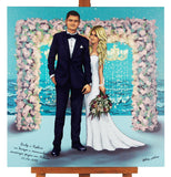 F&S Gift Store Wedding painting,Wedding portrait,Famly portrait,Portrait from photo,Photo painting,Sketch from photo,Cartoon drawing,Cartoon art,Wedding