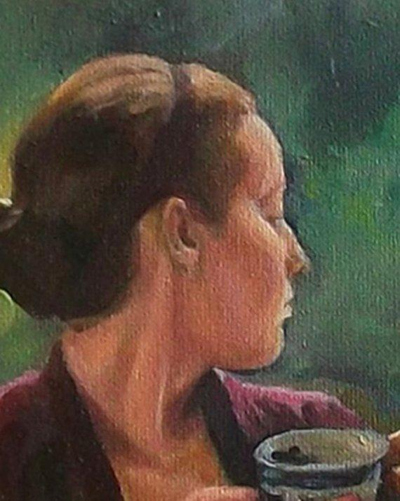F&S Gift Store Art commission portrait, Wife gift, Photo to painting canvas, Custom oil portrait, Order oil painting, Female portrait, Gift for woman