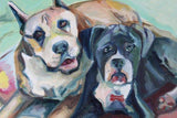 Personalized Oil Painting From Photos, handcraft art on Canvas-Show Case THS102029-48