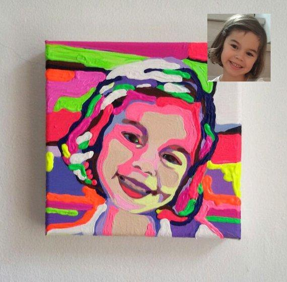 Personalized Oil Painting From Photos, handcraft art on Canvas-Show Case AKO102013-30