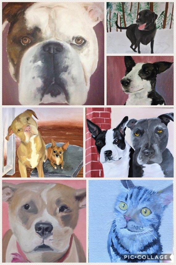 Personalized Oil Painting From Photos, handcraft art on Canvas-Show Case PJG101207-36