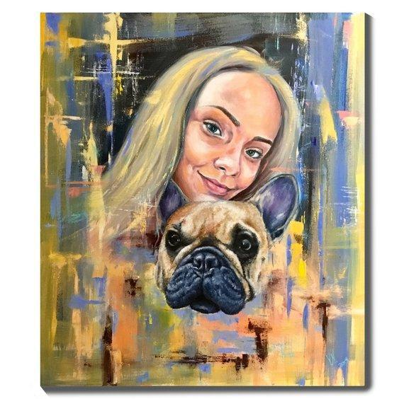 Personalized Oil Painting From Photos, handcraft art on Canvas-Show Case GFO102196-12