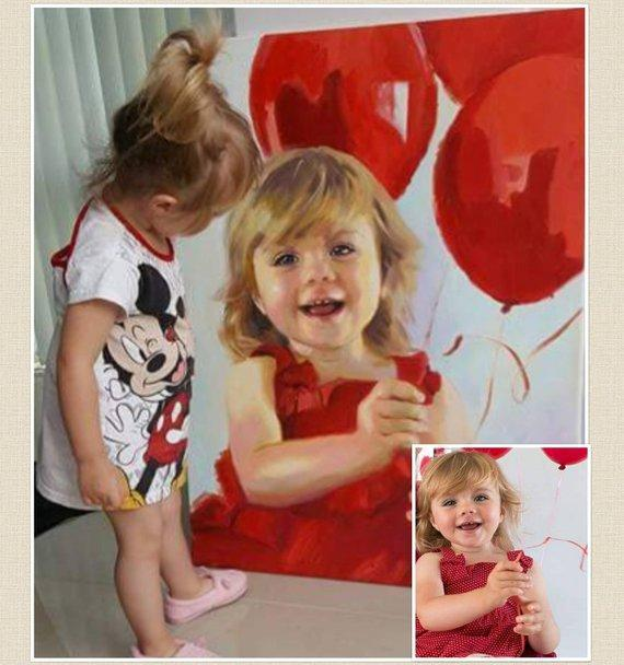 Personalized Oil Painting From Photos, handcraft art on Canvas-Show Case OMB100976-20
